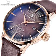 PAGANI DESIGN Men Military Automatic Self-Wind Watch Leather Band Reloj Hombre