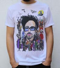 Tim Burton T Shirt + sus personajes Beetlejuice Skellington Willy Wonka Reina Roja