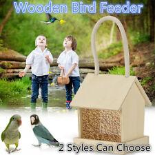 Wild Bird Wooden Feeder Hanging Feeders Viewing Window For Garden Yard Decor US
