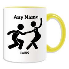 Personalised Gift Swing Dancer Mug Money Box Cup Dance Couple Name Tea Coffee
