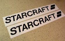 """Starcraft Vintage Fishing Boat Decal 24"""" Black 2-PK FREE SHIP + FREE Fish Decal!"""