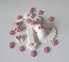 Baby Fondant Taufe Geburt Tortenaufleger Tortendekoration Zuckerfiguren Kuchen