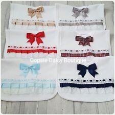 ☆ Beautiful Romany Spanish Style Ribbon Lace & Bows Bibs ☆ Pop Over Head Bibs ☆