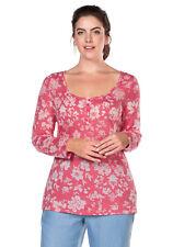 Sweatshirt - Gr. 40 42 46 48 50 52 54 56 58 - rot oder blau - Sheego - Pullover