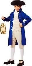 Revolutionary War Paul Revere Blue Coat Messenger Historical Costume Child Boys