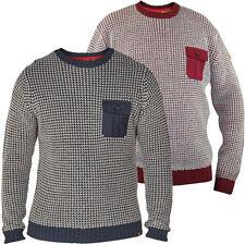 D555 Mens Branded King Size Honeycomb Knit Sweater 2XL 3XL 4XL 5XL, BNWT