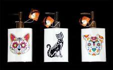 Kassa Fina Halloween Square Sugar Skull Cat*Dog*Skeleton Cat Soap Dispenser NWT