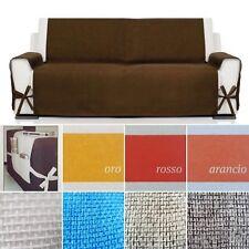 Copridivano 1 2 3 4 posti salva divano copertura tessuto canapone con laccetti