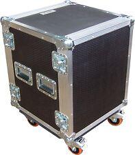 """12U 2 Door 19"""" Rack Mount PC Amp Swan Flight Case (Hex)"""