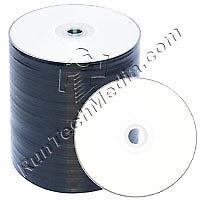 100 Runtechmedia 16x 4.7GB DVD-R White Inkjet HUB Printable Blank Media Discs