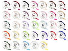 25mm x 20m Eleganza Double Side Satin Ribbon; 33 Shades Weddings & Crafts;