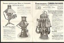 """PARIS (XIV°) USINE de MACHINE à BIERE & LIMONADE """"Ets. CIRIER-PAVARD"""""""