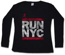 Run NYC da Donna Manica lunga T-SHIRT NEW YORK CITY RUN Fun Dmc maratona ghetto Hip Hop
