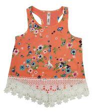 Knit Works Corail Floral Débardeur Dentelle W/Collier T-Shirt Fille S,M,L,XL