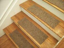 """Premium Carpet Stair Tread Sets - Brush Beige - 30"""" x 8"""""""