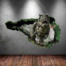 3D Dinosaurio T-Rex Pared Arte Pegatina Habitación Calcomanía Mural Transferir Gráfico WSD76