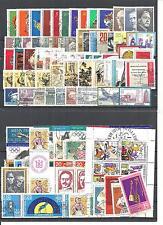 DDR 1971 - 1980, fast komplette Jahrgänge gestempelt o (mit Blöcken Kleinbögen)