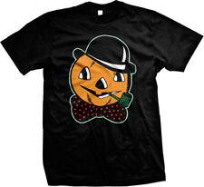Trick Or Treat Haloween Pumpkin Skull Pipe Bowtie Hat Mens T-shirt