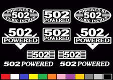 10 DECAL SET 502 CI V8 POWERED ENGINE STICKERS EMBLEM BBC RAT CRATE VINYL DECALS