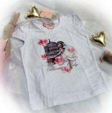 Blumarine Baby Designer T-Shirt Top Strass Nostalgie 24 m 36m 86 92 98 weiß NEU