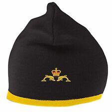Navy Submariner Cappello Beanie con logo ricamato
