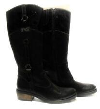 Nero giardini 36282 nero stivale tacco basso boot heel short chiusura cerniera a