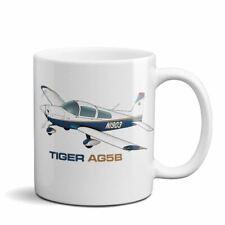 Tiger Aircraft AG5B Airplane Ceramic Mug - Personalized w/ N#