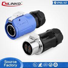 CNLinko 2 Pin Waterproof Power Plug Connector For LED Screen Display Speaker
