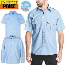 Security Casual Taxi Bus Driver Pilot Epaulette Shirt Long Short Sleeve Business