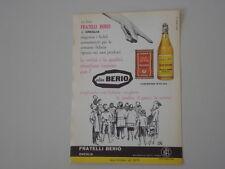 advertising Pubblicità 1960 OLIO BERIO