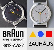 BRAUN Made in Germany Ø 33mm 3812 AW22 AW 22 UNISEX Wristwatch Dial BLACK GREY