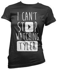 No puedo dejar de ver Tyler-vlogger Star youtubers Niñas Camiseta Muchos Tamaños