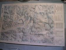 MOUNT EVEREST MAP+HIGH HIMALAYA LANDSCAPE National Geographic November 1988 MINT