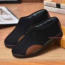 Mens Casual Warm Martial Art Tai Chi Cloth Boot Fleece Lined Kung Fu Cotton Shoe