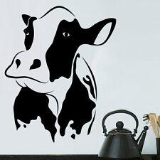 Sticker Décoration Murale ou Voiture Animal Vache, 10x8 cm à 35x29 cm (ANIM006)