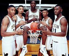 Michigan Wolverines Fab Five Basketball Photo (Select Size)