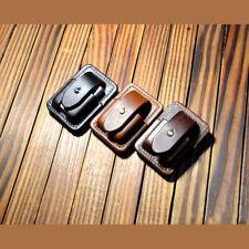 Handmade leather zippo lighter case Genuine Full grain cowhide pouches holder