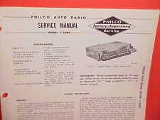 1958 CHRYSLER 300 D NEW YORKER SARATOGA WINDSOR PHILCO RADIO SERVICE SHOP MANUAL