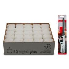 50 - 200 Teelichter mit 7-8 Stunden Brenndauer & Stabfeuerzeug - Teelicht Gastro