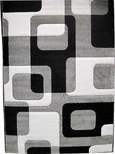 Tappeto moderno 100x150 living 660 grigio antipilling intagliato a mano