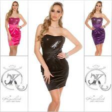 Koucla Dress Cocktail Kleid Party Minikleid Abendkleid  Pailletten