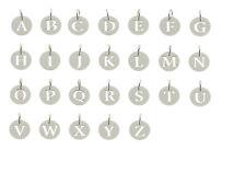 925 argento sterling personalizzato tagliare qualsiasi CIONDOLO Iniziali A-Z DISC Charm Regalo