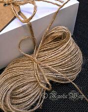 50m o 100m Natural Rústico Yute Arpillera Arpillera Cable de cinta de cadena de etiqueta de regalo de hilo