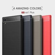 Housse etui coque silicone gel carbone pour Sony Xperia XA1 Plus + film ecran