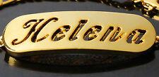 18k Plateó la Pulsera de Oro Con el Nombre - HELENA - Regalos Para Mujeres