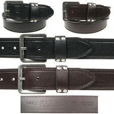 Vitali Full Grain 40mm Mens Italian Leather Jeans Belt Made in Italy 3901