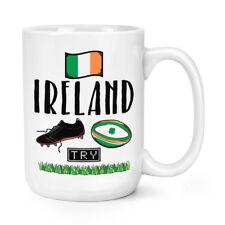 Rugby Irlande 15 oz (environ 425.24 g) Mighty Mug Tasse-Drôle Ligue Union shamrock flag SPORT BIG