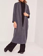 MISSGUIDED tall shawl collar wool maxi coat grey (M55/1)