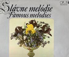 SLAVNE FAMOUS MELODIES LP 33 giri  REP.CECA Chopin RUBINSTEIN Dvorak GOUNOD