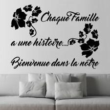 """Sticker Texte FLEUR """"Chaque famille a une Histoire, bienvenue ...."""", (TEX042)"""
